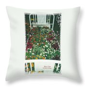 Mama's Flower Bed Throw Pillow