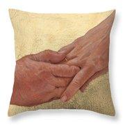 Mama's Hand Throw Pillow