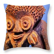 Mambila Figure Throw Pillow