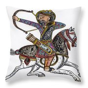 Mameluke Archer, C1300 Throw Pillow