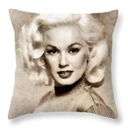 Mamie Van Doren, Vintage Actress And Pinup Throw Pillow