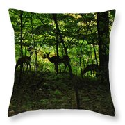 Mamma And Twins Throw Pillow