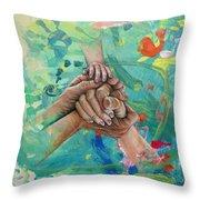 Mamma's Hands Throw Pillow