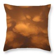 Mammatus Clouds Throw Pillow
