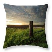 Mammatus Sunset Throw Pillow