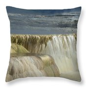 Mammoth Hot Springs - Yellowstone Throw Pillow
