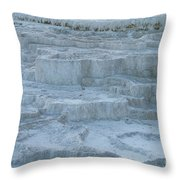 Mammoth Hot Springs Travertine Terraces One Throw Pillow
