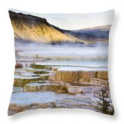Mammoth Hot Springs Throw Pillow