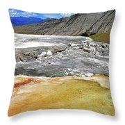 Mammoth Hot Springs1 Throw Pillow