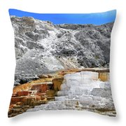 Mammoth Hot Springs3 Throw Pillow