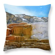 Mammoth Hot Springs4 Throw Pillow