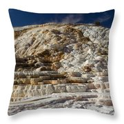 Mammouth Hot Springs Throw Pillow