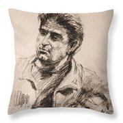 Man 5 Throw Pillow