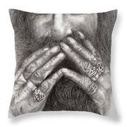 Man Alive Throw Pillow