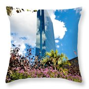 Man And Nature Throw Pillow