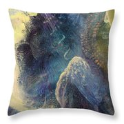 Man And The Moon Throw Pillow