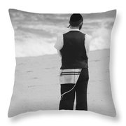 Man And The Sea Throw Pillow