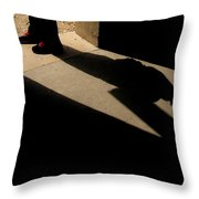 man at Door Throw Pillow