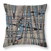 Man At The Lake Throw Pillow
