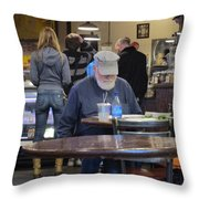 Man Does Not Notice Woman Behind Him Throw Pillow