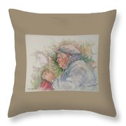 Man From Aran Throw Pillow