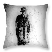 Man In A Hat Throw Pillow