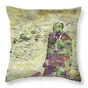 Man In A Suit By Mary Bassett Throw Pillow