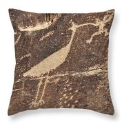 Man In Beak Throw Pillow