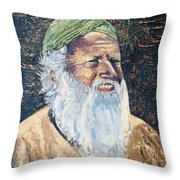 Man In The Green Turban Throw Pillow