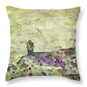 Man In The Lansdscape By Mary Bassett Throw Pillow