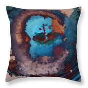 Man In The Moon Daydream Throw Pillow