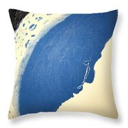 Man In The Moon Weeps Throw Pillow