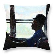 Man In Top Hat Throw Pillow