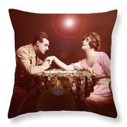 Man Kissing Womans Hand Romantic Couple Throw Pillow