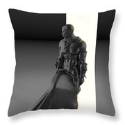 Man Lamp Number Eleven Throw Pillow