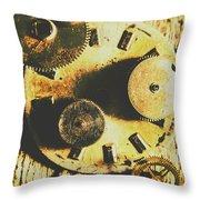 Man Made Time Throw Pillow