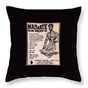 Man-mate In Brief #105 Throw Pillow