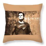 Man Of Steel Throw Pillow