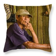 Man Of The House Throw Pillow by Allen Sheffield