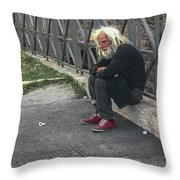 Man Of   The Pyramid Of Cestius Throw Pillow