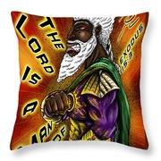 Man Of War Poster Design Throw Pillow
