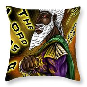 Man Of War T-shirt Design Throw Pillow