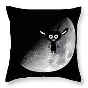 Man On Moon Throw Pillow