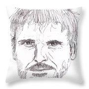 Man Staring Throw Pillow