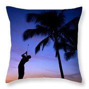 Man Swinging Driver Throw Pillow
