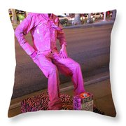 The Man Who Sits In The Air Throw Pillow