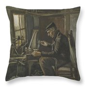 Man Winding Yarn Nuenen, May - June 1884 Vincent Van Gogh 1853  1890 Throw Pillow
