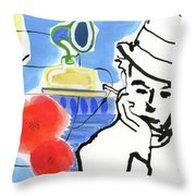 Man With A Cockroach Throw Pillow