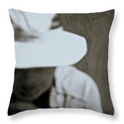 Man With A Hat Throw Pillow