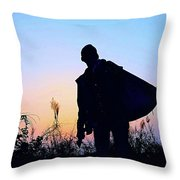 Man With Bag Throw Pillow
